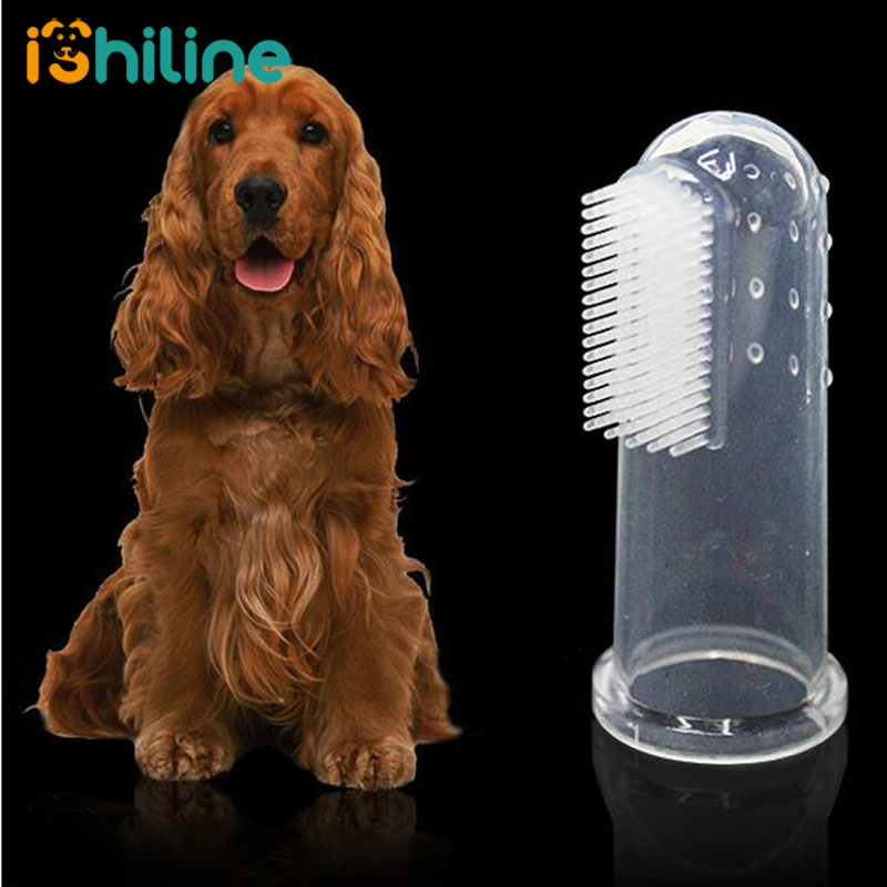 5PCS font b Pet b font Dog Finger Toothbrush Puppy Teeth Care Brush Soft Dog Cat