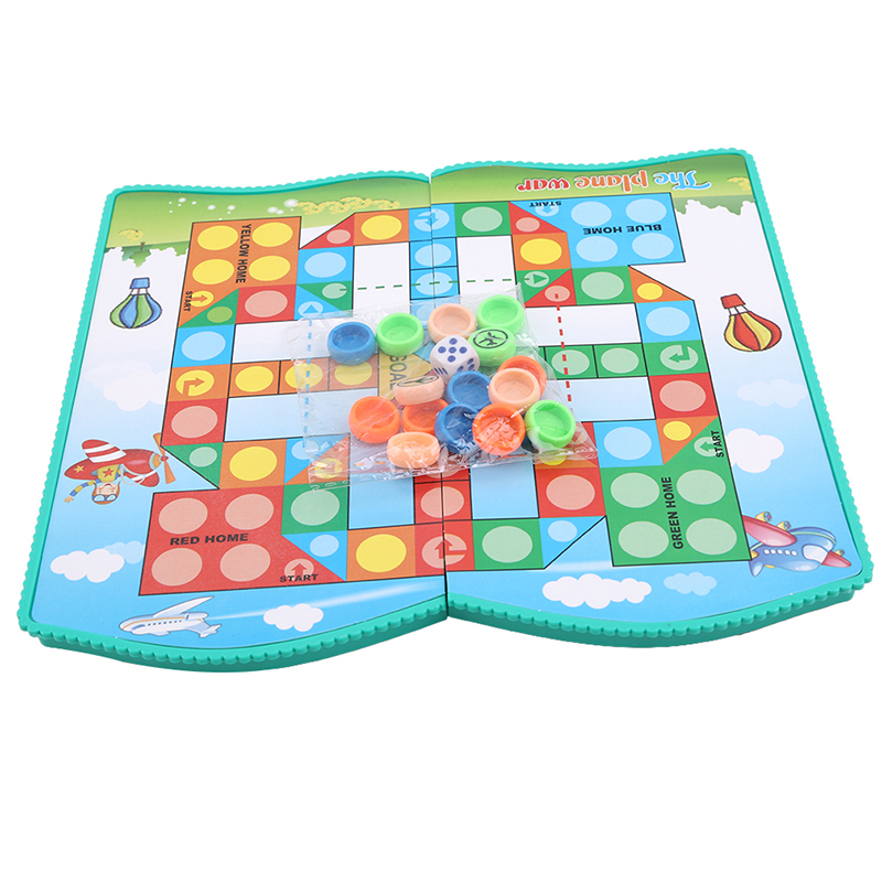 Outdoor Traditional Flying Ludo Chess Game Folding Chessboard For Travelling Children Intelligence Toy Party Game 6 Types