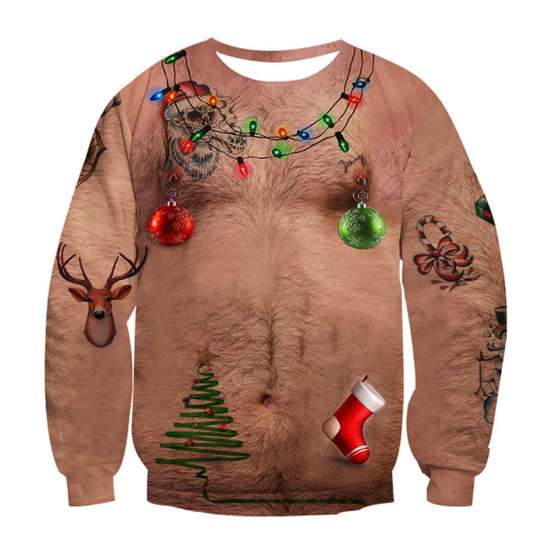 2020 Ugly Christmas Sweater Unisex Men Women Vacation Santa Elf Pullover Funny Womens Men Sweaters Tops Autumn Winter Clothing