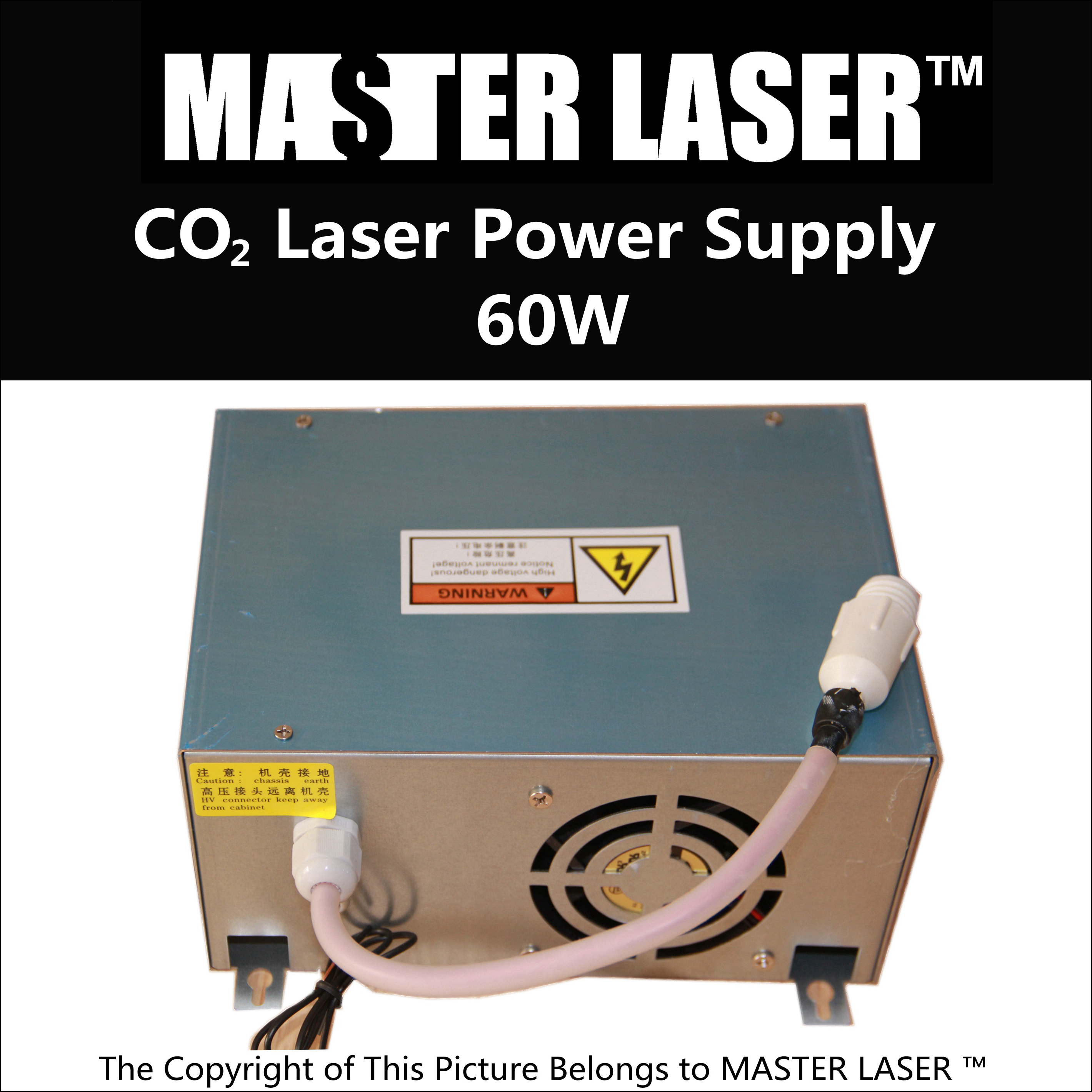 Discount CO2 Tube Power Supply 60W for CO2 Laser Cutting Machine