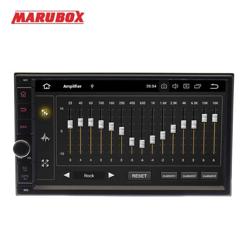 MARUBOX 706PX5-DSP unité de tête universelle 2 Din Octa Core Android 8.0, 4 go de RAM, 32 go, Navigation GPS, Radio stéréo, Bluetooth, pas de DVD