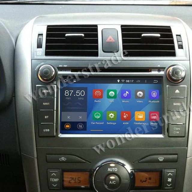 """Witson Quad Core 7"""" Car DVD Player  GPS navigation Radio Stereo For TOYOTA COROLLA  2007  2008 2009 2010 2011 2012 3G WIFI"""
