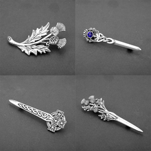 dongsheng Scotland Thistle Sword Brooches Pins Fashion Outlander Jewelry National Flower For Men Women Cosplay Gift-40