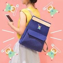 Bentoy Preppy Style Women Backpack For School Teenagers Girls Back Pack Shoulder Bag Canvas Schoolbags Travel Backpacks Mochila