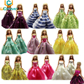 UCanaan Random Pick Lot 5 Pcs Handmade Party Doll's Dress Clothes Gown Princess Wedding Clothes For Barbie Doll Gift Baby Toys