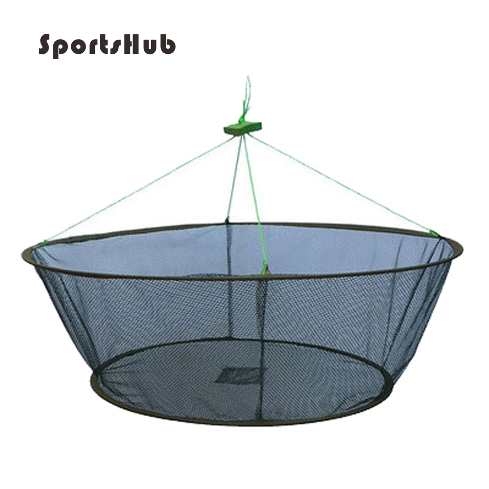 SPORTSHUB Dia: 1 M Heights: 35 cm plegable portátil redes de pesca red de peces, camarones cangrejo Catcher redes FT0009