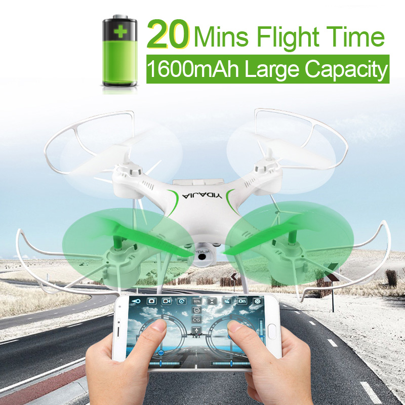 D66 20mins Flight Time WIFI FPV RC Drone with 0.3MP Camera 2.4G 6-Axis Radio-controlled Helicopter Dron Quadcopter Toy VS X5SW колесные диски slik l191 6 5x16 5x112 d66 6 et39 w