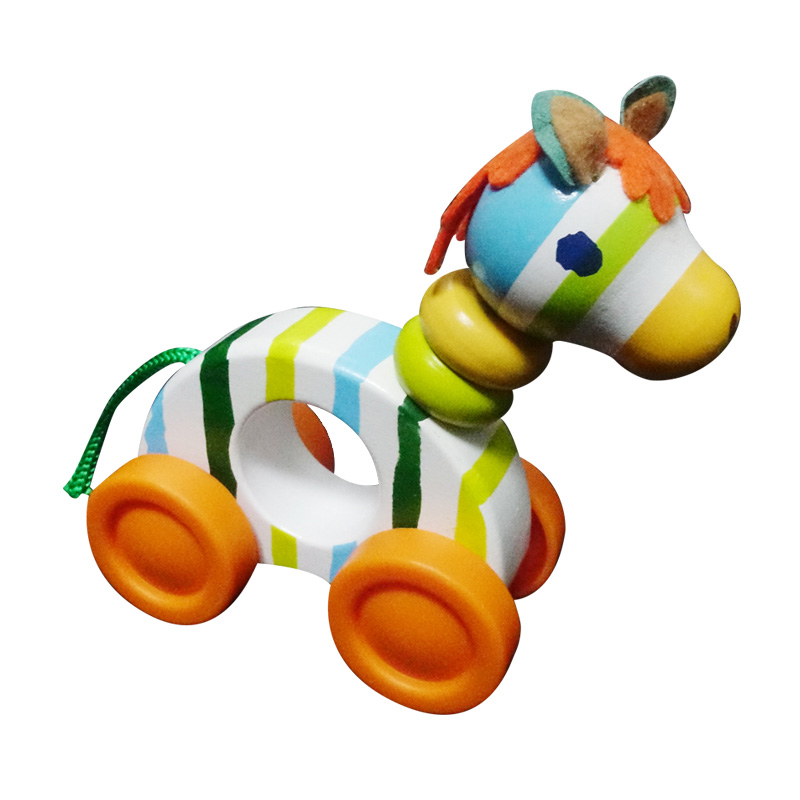 Wood Pony Toys For Kids Horse Models Wooden Blocks Montessori Early Learning Educational Toys For Children CC2367H