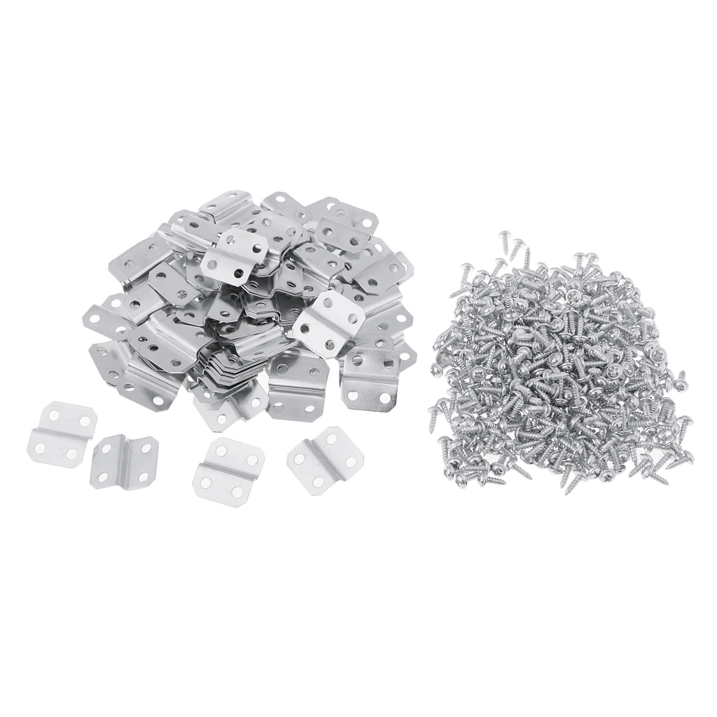 100Pcs New Designs 4 Holes Offset Canvas Z Clips For Painting Picture Framing Starters Package Art Supplies with 400pcs Screws rary pубашка