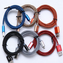 1M/2M/3M Braided Micro USB Data Sync Charger Cable for Samsung Galaxy S4 S6 S7 Edge Note 2 5 4 More Android Smartphone(China)