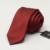 Romguest 2016 nueva mens de la marca casual sólido sarga vino tinto estrecho lazo 6 cm boda del novio corbatas para los hombres gravata