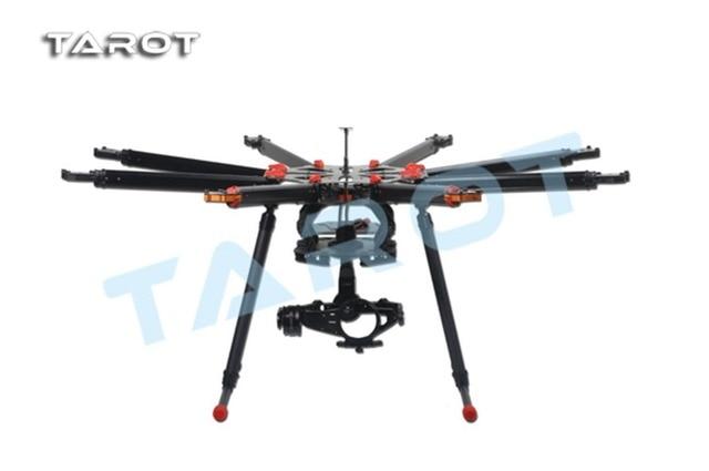 Tarot f11270 x8 8 aixs tipo paraguas plegable octocopter multicopter uav drone tl8x000 con tren de aterrizaje retráctil + freepost