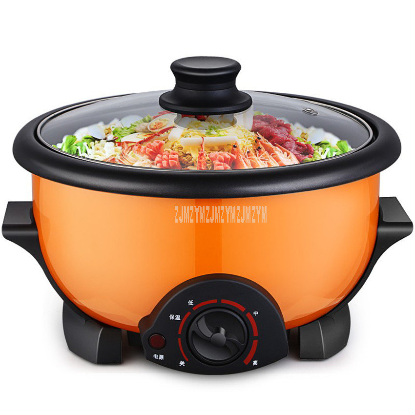 3.5L Capacity Mini Electric Multi Cooker Hot Pot Household Non-stick Electric Cooking Machine Student Dormitory Hotpot Cooker3.5L Capacity Mini Electric Multi Cooker Hot Pot Household Non-stick Electric Cooking Machine Student Dormitory Hotpot Cooker