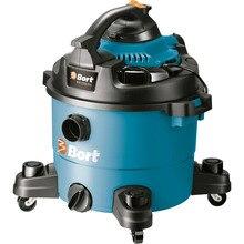 Технический пылесос - воздуходувка Bort BSS-1330-Pro (Мощность 1300 Вт, съемный двигатель превращается в воздуходувку, сухая и влажна уборка, сбор жидкости, сливное отверстие в корпусе)