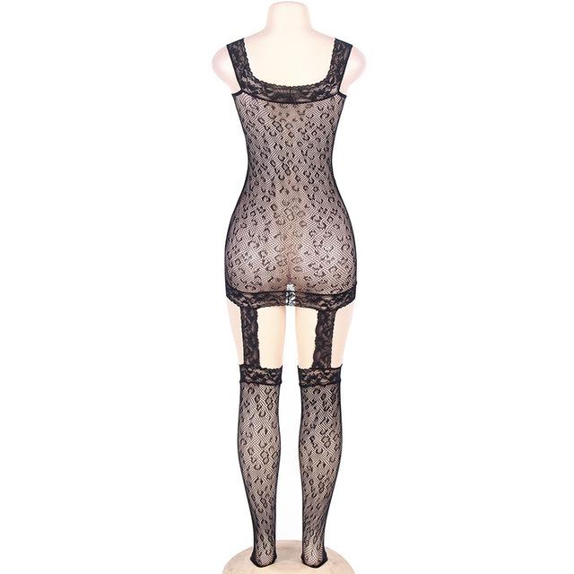 Black Sexy Lingerie Women 2017 Sexy Bodystocking Plus Size Sex Lady Porn Lingerie Women Fishnet Body Stocking Plus Size XL