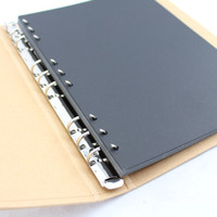 Handmade B5 DIY Paste Type 9 Holes Personality Vintage Photo Album Inner Paper Spare Pages Black