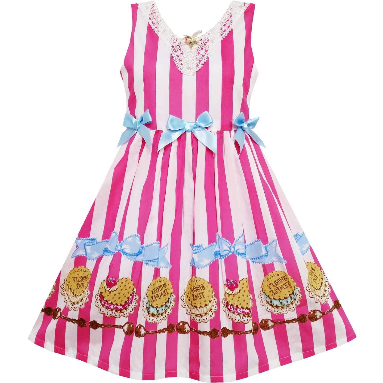 77152a5a5771b Girls Dress Sunflower Bubble Lily Flower Garden Blue 2019 Summer Princess  Wedding Party Dresses Children Clothes Pageant