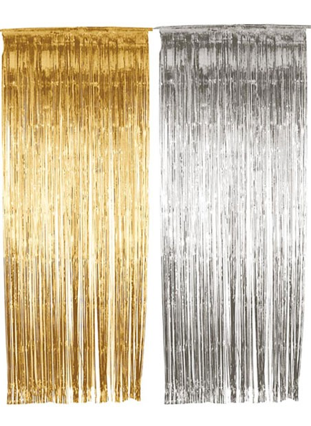 6set 3 X8 36 X 96 Gold Silver Tinsel Foil Fringe Door Window Curtain Party Wedding Birthday Decoration Backdrop Background On Aliexpress