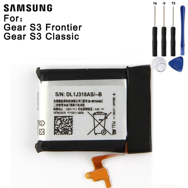 Batterie De Remplacement dorigine EB-BR760ABE Pour Samsung Gear S3 Frontier/Classique SM-R760 SM-R765 SM-R770 SM-R765S 380 mAhBatterie De Remplacement dorigine EB-BR760ABE Pour Samsung Gear S3 Frontier/Classique SM-R760 SM-R765 SM-R770 SM-R765S 380 mAh