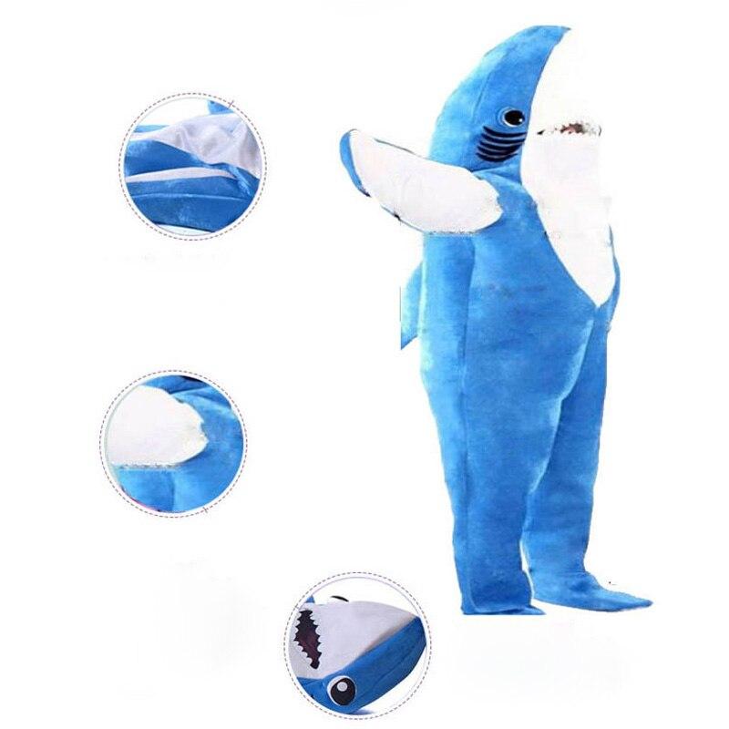 2 цвета Акула от Pixar анимационный Плёнки качество Делюкс взрослых Для мужчин синий и серый Акула для Хэллоуина удобные Косплэй костюм - 4