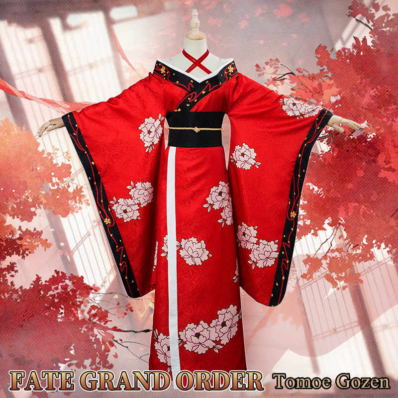 Fate Grand Order Halloween 2020 Craft Esscence Anime! Fate/Grand Order FGO Tomoe Gozen Craft Essence Kimono