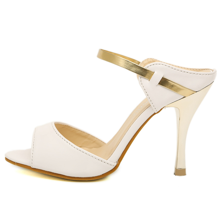 LAKESHI Summer Women Pumps Small Heels Wedding Shoes Gold Silver Stiletto High Heels Peep Toe Women Heel Sandals Ladies Shoes 9