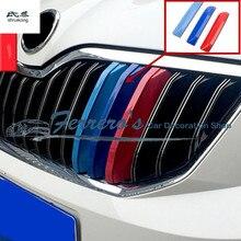 3 шт./лот ABS 3 цвета Автомобильная передняя решетка Светоотражающая для Skoda Octavia A7-/Rapid 2013-/Rapid Spaceback/YETI
