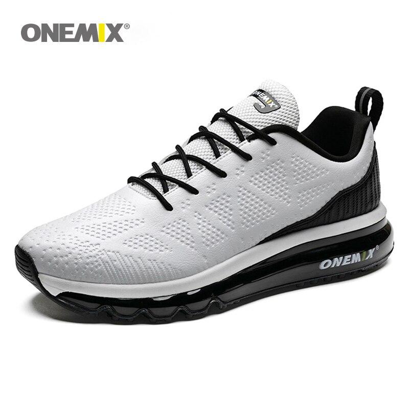 Onemix воздушной подушке Бег обувь для Для Мужчин's 97 водонепроницаемая кожа Открытый Бег обуви беговые кроссовки открытый Фитнес кроссовки