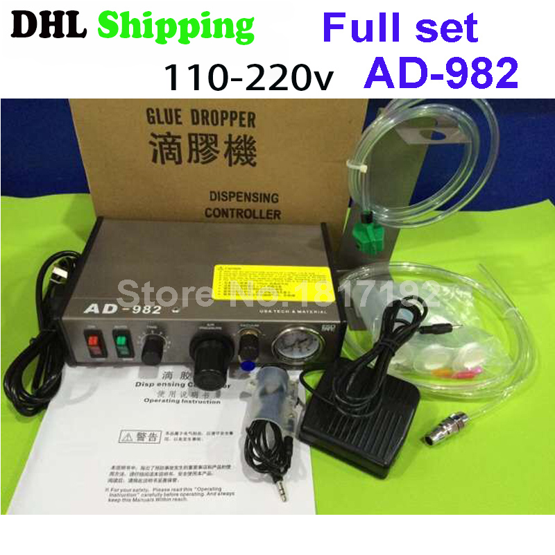 ФОТО Free shippingDHL by dhl 220V AD-982 Semi-Auto Glue Dispenser PCB Solder Paste Liquid Controller Dropper Fluid dispenser