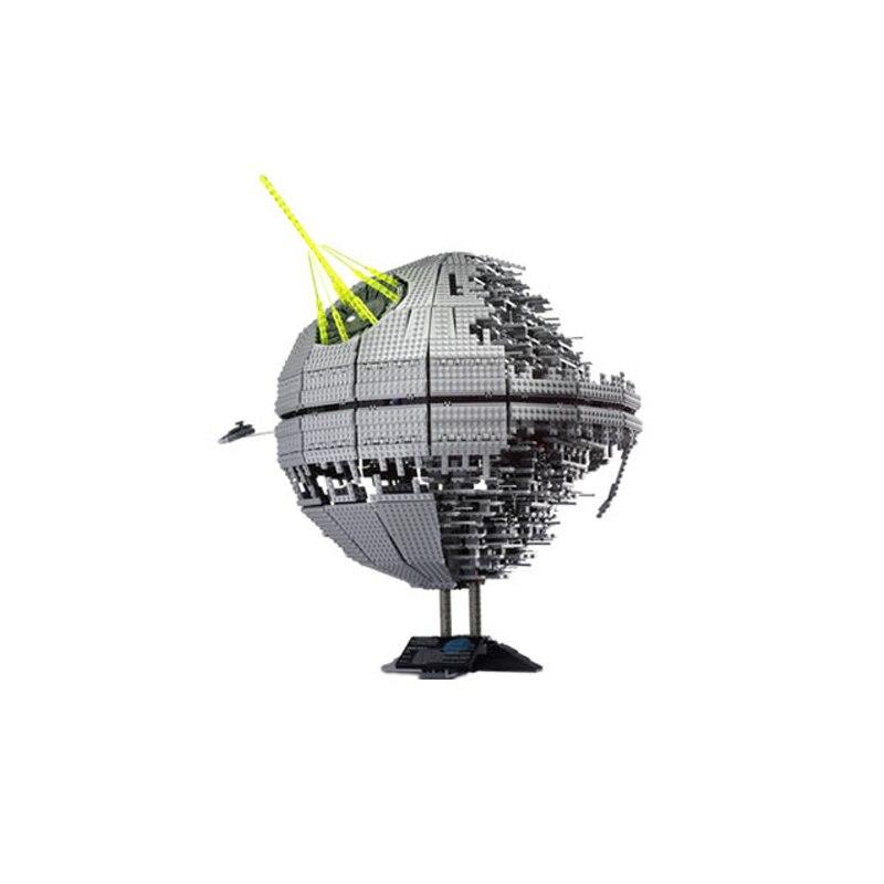 DHL 05026 de 3449 piezas conjunto guerras UCS de la estrella de la muerte de II, la segunda generación de bloques de construcción ladrillos juguetes Compatible legoed 10143