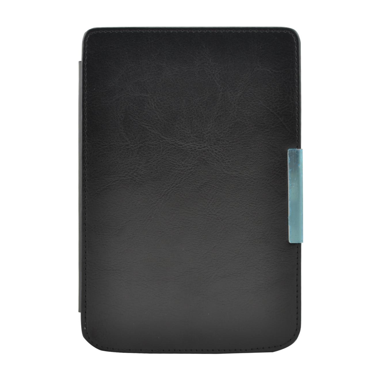 Etui en cuir PU housse funda pour Pocketbook touch 614/624/626/640 livre de poche de base Lux Aqua ereader e-books étui + film + stylet