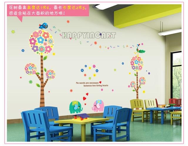 Classroom Wall Decoration Diy : Creative diy removable kids room bedroom classroom