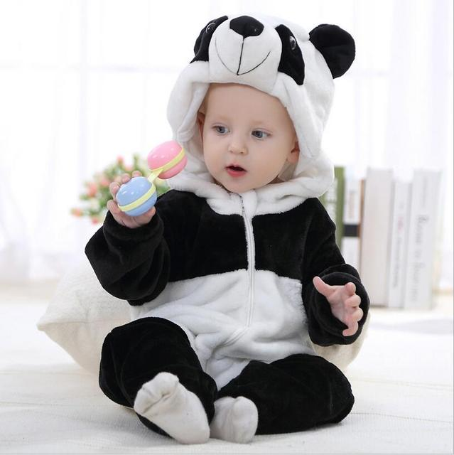 Baby rompers new born baby girls clothes Hooded pajamas mameluco bebe warm winter animal costumes roupas de bebe dropshipping 3