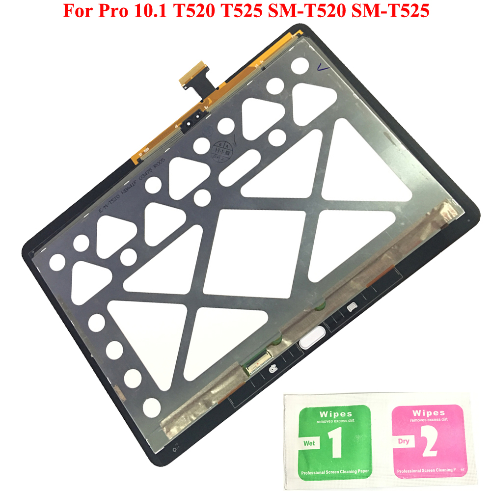 LCD Display Touch Screen Digitizer Sensors Assembly Panel Replacement For Samsung GALAXY Tab Pro 10.1 T520 T525 SM-T520 SM-T525LCD Display Touch Screen Digitizer Sensors Assembly Panel Replacement For Samsung GALAXY Tab Pro 10.1 T520 T525 SM-T520 SM-T525