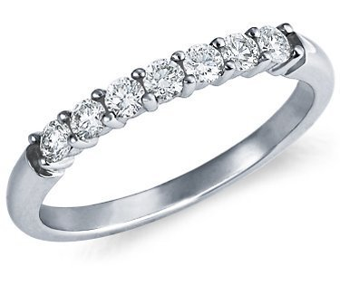 7 stone band sona lab Gem wedding rings for women,Sterling silver brilliant wedding band,wedding ring set,eternity band