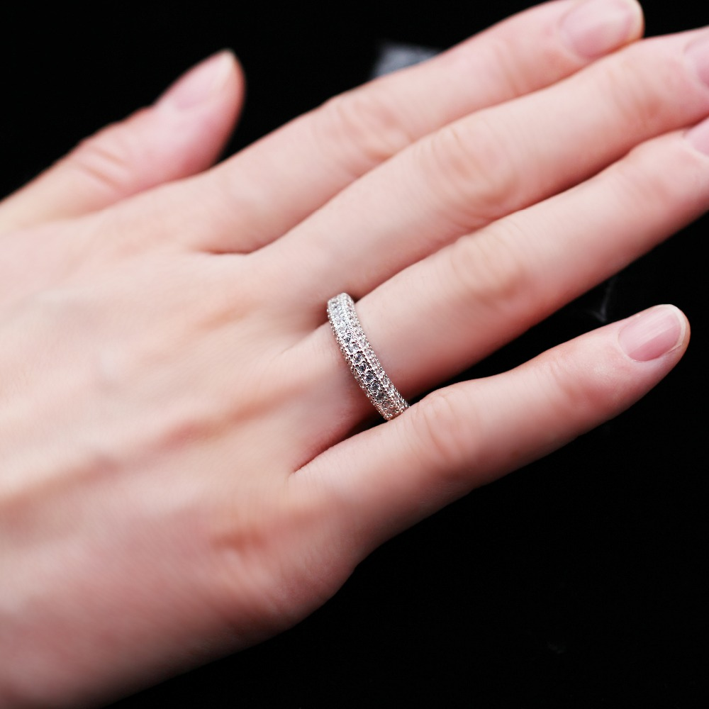 Almei Wedding Zirconia Zircon Cut Cute Rings Jewelry for Women ...