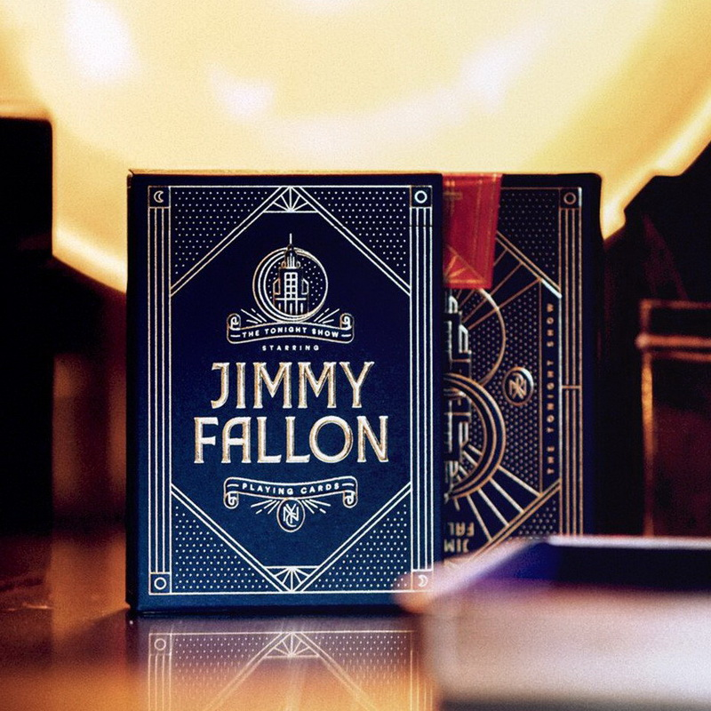 1 Pcs Jimmy Fallon Playing Cards Premium Poker Magic Performance <font><b>Tonight</b></font> <font><b>Show</b></font> Deck Theory 11 New Sealed Magic Props Magia Tricks image