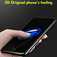 High Configuration Sapphire Coating 3D Tempered Glass For IPhone 7 Plus Clear Scratch Proof Anti Edge