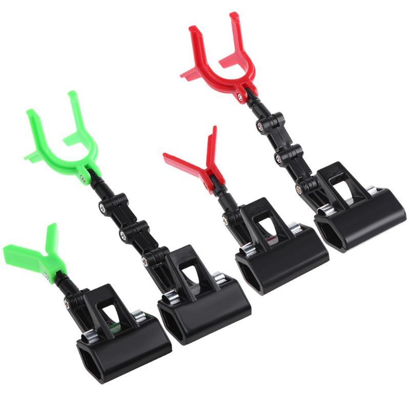 2pcs/set Red Green Luminous Plastic Fishing Rod Pole Holder Flexible Portable Bracket Suitable for Raft Boat Rock Fishing Tools