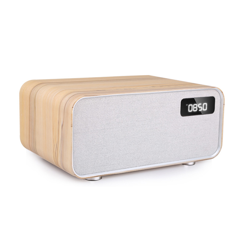 Sounderlink Neus Retro madera inalámbrica Bluetooth Smart TV de cine en casa de Casa altavoz boombox dormitorio reloj HiFi calidad de sonido - 5