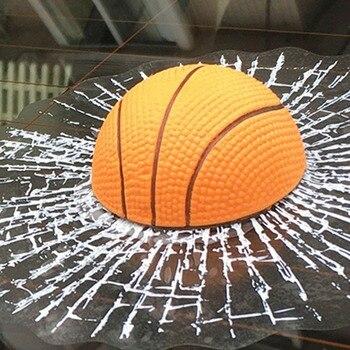 Creative transparent 3D simulation Basketball tennis football baseball car stickers soccer-specific stadium