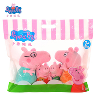 Original Peppa Pig Family Plush Toys 4Pcs/Set 19cm/30cm Peppa George With Cute Bag Lovely Stuffed Dolls Birthday Gifts For Kid