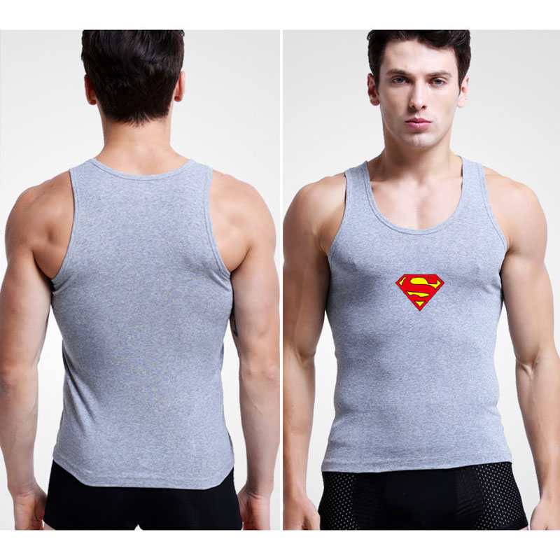 Superman Captain Dinosaur Printed Brand Men Casual Undershirt Cotton Slim Fit Men Body Building Fitness Male Bottoming Underwear