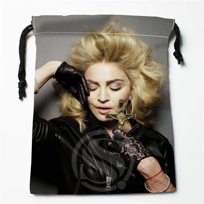 J&w63 New Madonna Custom Printed  Receive Bag Compression Type Drawstring Bags Size 18X22cm W725&Do63W