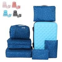 6 sets for travel women bag Big letters luggage travel bag ,beach,multi functional reusable bag,Waterproof beaker travel bag