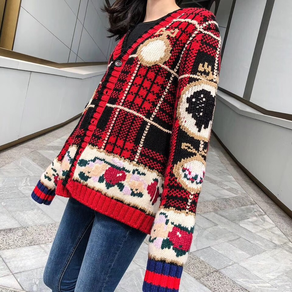 2018 women fashion knitted cardigan sweater