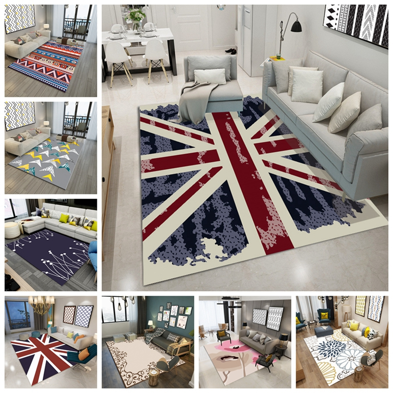 Geometric London Pattern Floor Carpet Large Size Living Room Bedroom Sofa Tea Table Rugs And Carpets Rectangular Antiskid Tapete