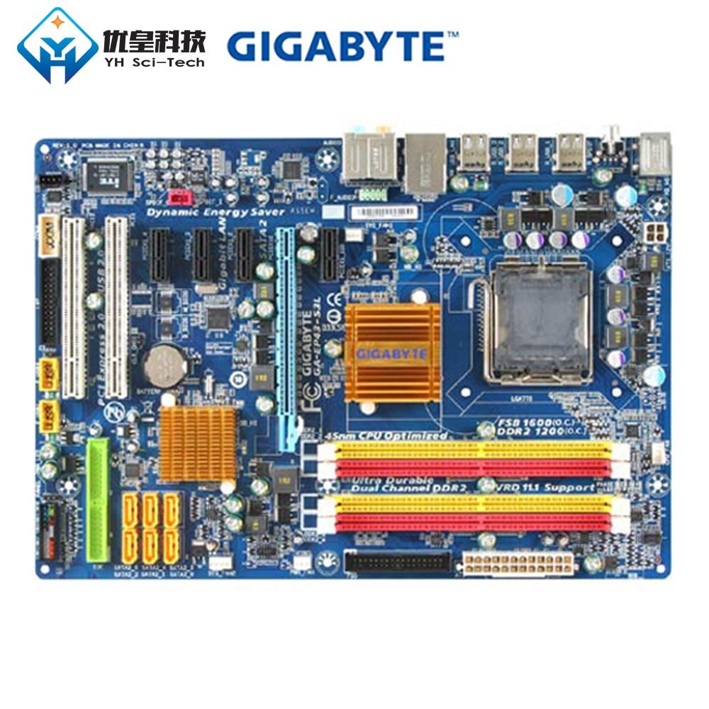 Original Usado Desktop Motherboard Gigabyte GA-EP43-S3L P43 ATX LGA 775 DDR2 16GB SATA2 USB2.0