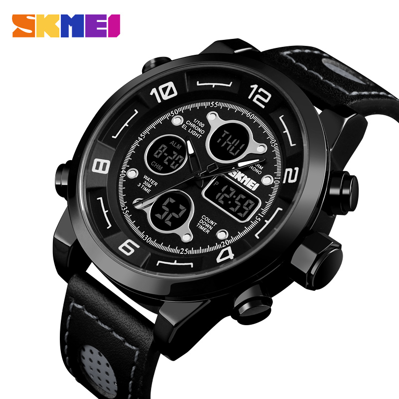 <font><b>SKMEI</b></font> Military Sports Watches Fashion Mens Watches Top Brand Luxury Waterproof Chronograph Multifunction Quartz Wrist Watch Men image