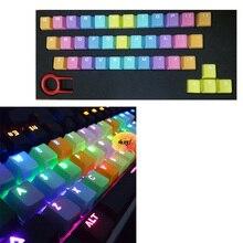 Новое боковое печатное верхнее печатное пустое для PBT 37 Keycaps plus Spacebar устройство для извлечения клавиш радужные брелки для механической клавиатуры